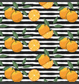 hand drawn oranges slices pattern vector image vector image