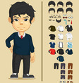 Handsome Man Customizable Character vector image