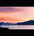 horizontal wide blurred mountain background vector image vector image