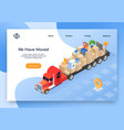 house moving company isometric website vector image vector image