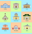 icons set of colorful public vector image vector image