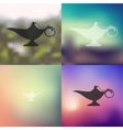 lamp icon on blurred background vector image