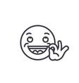 looking good emoji concept line editable vector image vector image