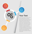 multi option infographic background image vector image vector image