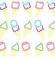 neon pattern ice cream scoops dessert vector image