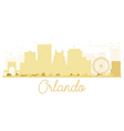 Orlando City skyline golden silhouette vector image vector image