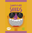 packing for sunflower seeds vector image vector image