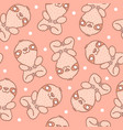 pattern with sloth with dots vector image vector image