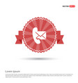 phone receiver and envelope icon - red ribbon vector image
