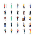 professional people flat icons vector image vector image