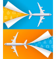 realistic detailed 3d airplane travel concept vector image vector image