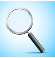 Realistic magnifier isolated vector image vector image