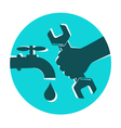 Repair waterpipe symbol vector image