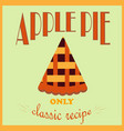retro style poster apple pie advertisement only vector image
