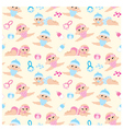 seamless babies pattern vector image