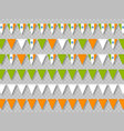 set indian bunting flags traditional tricolor vector image vector image