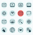 set of 16 advertising icons includes conference vector image vector image