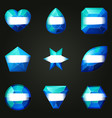 set of gemstones for game vector image vector image