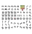 Set of navigational icons vector image vector image
