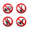 set prohibited signs - park vector image vector image