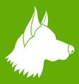 shepherd dog icon green vector image vector image