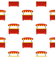 store kiosk with red and yellow awning pattern vector image vector image