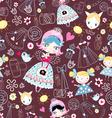texture trendy little girls vector image