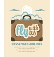 Travel suitcase with passenger aircraft vector image vector image