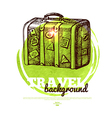 Travel tropical design banner vector image vector image