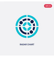 two color radar chart icon from business and vector image vector image