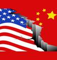 usa and china economic war vector image