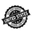 usa best service stamp with dirty effect vector image