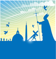 vatican city symbol with pope on background vector image vector image