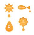 vitamin d icons set vector image