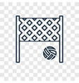 volleyball concept linear icon isolated on vector image vector image