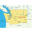Washington state - map vector image