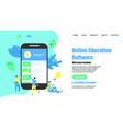 webpage template online education app vector image vector image