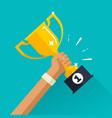 winner achievement sport award vector image vector image