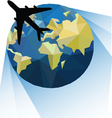 world travel vector image vector image