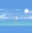 yacht regatta on wave blue sea ocean vector image vector image