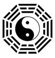 ying yang symbol of harmony and balance vector image vector image