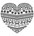 Zentangle heart vector image vector image
