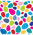 abstract mosaic spot pattern easter egg seamless vector image