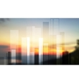 Urban modern city panorama on blurred landscape vector image