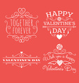 Valentines day set of label badges stamp and vector image