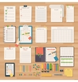 Agenda business notes vector image