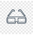 3d glasses concept linear icon isolated on vector image