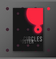 abstract circles poster template vector image