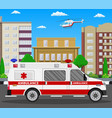ambulance car emergency vehicle vector image vector image