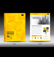 annual report brochure flyer template yellow cover vector image vector image